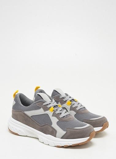F By Fabrika Erkek Siyah Sneakers DONALD Gri